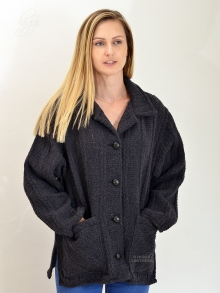 Higgs Leathers ONE ONLY UNDER HALF PRICE!  Makenna  (ladies Grey Wool jacket)